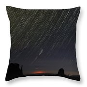 Monumental Star Trails Throw Pillow