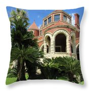 Moody Mansion Throw Pillow