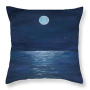 Moon Glow On The River Throw Pillow