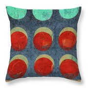 Moon Phases 2 Throw Pillow