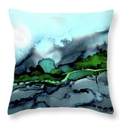 Moondance Iv Throw Pillow by Kathryn Riley Parker