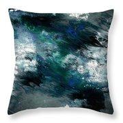 Moonlight Ocean- Abstract Art By Linda Woods Throw Pillow