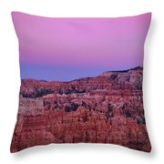 Moonrise Over The Hoodoos Bryce Canyon National Park Utah Throw Pillow by Dave Welling