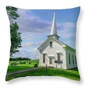 Moose Brook Chapel Throw Pillow