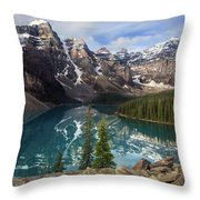 Morning At Moraine Throw Pillow