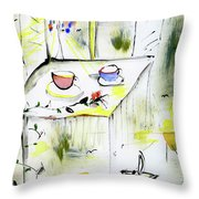 Morning By The Artist Catalina Lira Throw Pillow