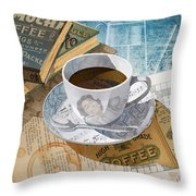 Morning Coffee Throw Pillow by Clint Hansen