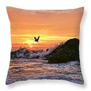 Morning Flight Serenity Throw Pillow