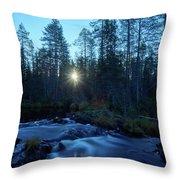 Morning Has Broken At Hepokongas Waterfall Throw Pillow