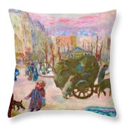 Morning In Paris - Digital Remastered Edition Throw Pillow