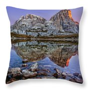 Morning On Laghi Dei Piani Throw Pillow by Dmytro Korol