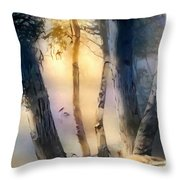Morning On The Murray Throw Pillow