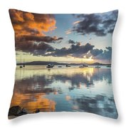 Morning Reflections Waterscape Throw Pillow