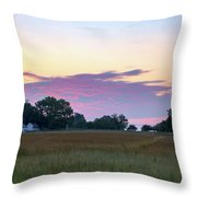 Morning Skies Over Gettysburg Throw Pillow