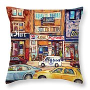 Morrie Heft Elizabeth Hager Le Chef Jj Joubert On Queen Mary Rd Stores C Spandau Montreal Throw Pillow