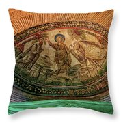Mosaics Of Mausoleo Throw Pillow