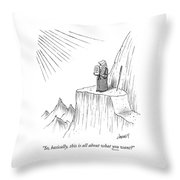 Moses Speaks To God Throw Pillow