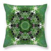 Mossy Green Throw Pillow