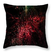 Mostly Red And White Fireworks Throw Pillow