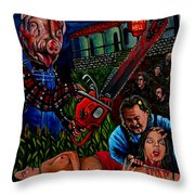 Motel Hell Throw Pillow