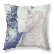 Mother And Child By Wilhelm List Throw Pillow