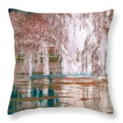 Mother Willow Altered Infrared Throw Pillow