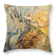 Mother's Day Flower Throw Pillow
