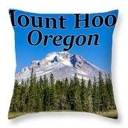 Mount Hood Oregon In Fall Throw Pillow