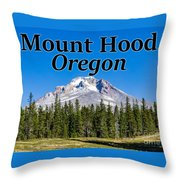Mount Hood Oregon In Fall Throw Pillow