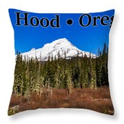 Mount Hood Oregon In Winter 01 Throw Pillow