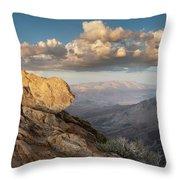 Mount Laguna Rocks And Sunset Throw Pillow