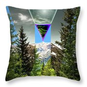 Mount Lincoln's Locus Throw Pillow