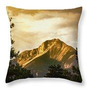 Mount Pagosa Gold Throw Pillow