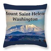 Mount Saint Helens Washington Throw Pillow