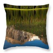 Mountain Reflection In Beirstadt Lake Throw Pillow