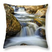 Mountain Stream Waterfall  Throw Pillow