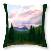 Mountain And Sky Throw Pillow