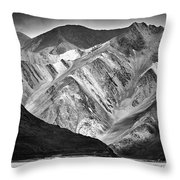 Mountains At Pangong Throw Pillow by Whitney Goodey