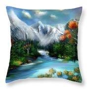Mountains Majesty Throw Pillow