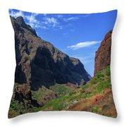 Mountains Of The Teno Massif Near Masca Throw Pillow