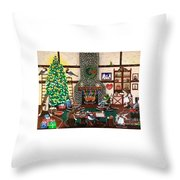 Ms. Elizabeth's Holiday Home Throw Pillow