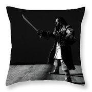 Blackbeard The Pirate Throw Pillow