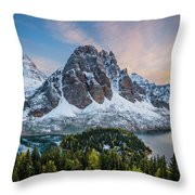 Mt Assinniboine Sunset Throw Pillow
