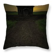 Mud Hole  Throw Pillow