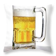 Mug Of Beer Throw Pillow