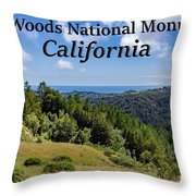 Muir Woods National Monument California Throw Pillow