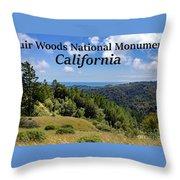 Muir Woods National Monument California Throw Pillow
