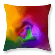 Multiple Colored Abstract By Delynn Addams Throw Pillow