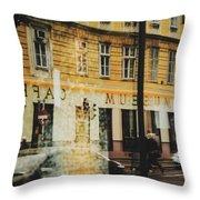 Museum Cafe Throw Pillow