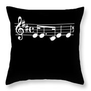 Music Notes Song Good Memory Musician Music Fan Gift Throw Pillow